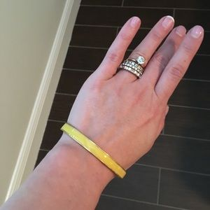 J. crew medium width yellow bangle